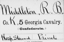 Pvt Richard Benjamin Middleton