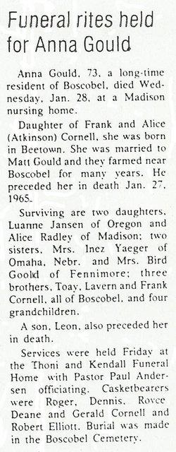 Anna Belle <i>Cornell</i> Gould