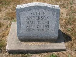 Ruth M Anderson
