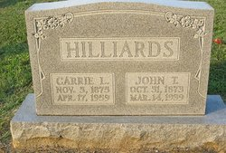Carrie Lee <i>Cubbage</i> Hilliard
