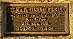 Telma R <i>Harris</i> Eakins