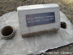 Alma Frances <i>Perkins</i> Lavergne