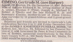 Gertrude M <i>Harper</i> Cimino