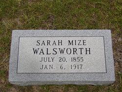Sarah Elizabeth <i>Mize</i> Walsworth