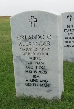 Maj Orlando O Alexander