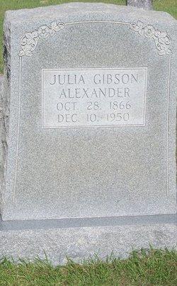 Julia <i>Gibson</i> Alexander