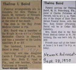 Thelma I <i>Kennon</i> Baird