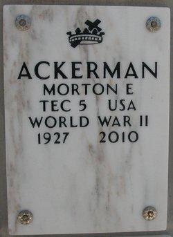 Morton E Ackerman