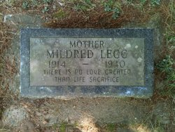 Mildred Jane <i>Shupe</i> Legg