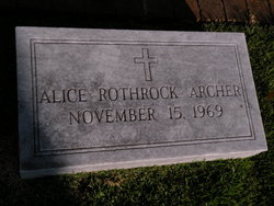 Alice <i>Rothrock</i> Archer