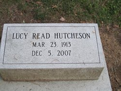 Lucy Burge <i>Read</i> Hutcheson-McKenry