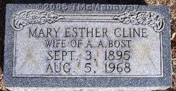 Mary Esther <i>Cline</i> Bost