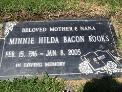 Minnie Hilda Nana <i>Bacon</i> Rooks