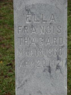 Ella Francis <i>Hagin</i> Thagard