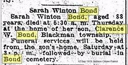 Sarah <i>Winton</i> Bond