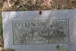 Evelyn <i>Anderson</i> Aclin