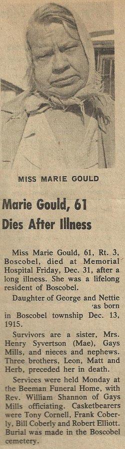 Marie Grace Gould