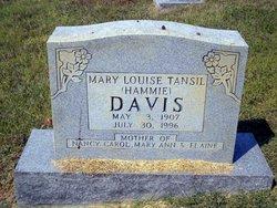 Mary Louise Hammie <i>Tansil</i> Davis