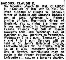 Claude Eugene Badoux