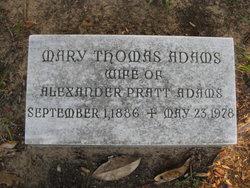 Mary <i>Thomas</i> Adams