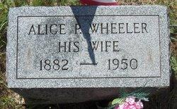 Alice P <i>Horton</i> Wheeler