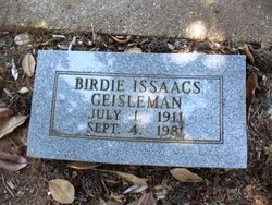 Birdie <i>Isaacs</i> Geisleman