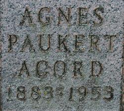 Agnes <i>Paukert</i> Acord