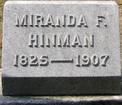 Miranda Frances <i>Jones</i> Hinman