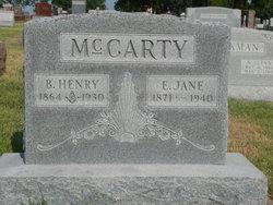 Elizabeth Jane Jane <i>Wood</i> McCarty