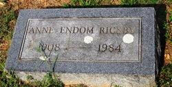 Ann <i>Endom</i> Rigsby