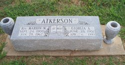 Rev. Marion W Atkerson