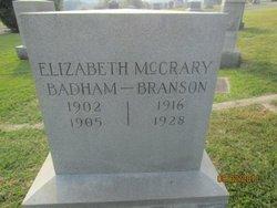 Elizabeth <i>McCrary</i> Badham-Branson