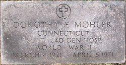 Lieut Dorothy E. Mohler