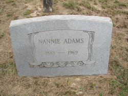 Nannie <i>George</i> Adams
