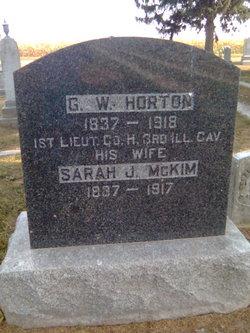 Sarah Jane Sallie <i>McKim</i> Horton