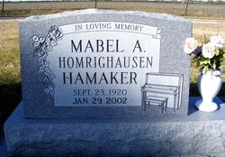 Mabel A. <i>Homrighausen</i> Hamaker