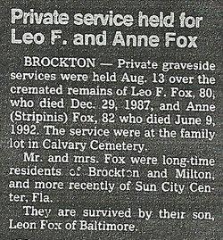 Anne <i>Stripinis</i> Fox