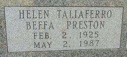 Helen <i>Taliaferro</i> Beffa-Preston