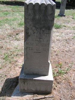 Mary <i>Watt</i> Wiley