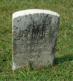 Frances Fannie <i>Whitener</i> Abernathy