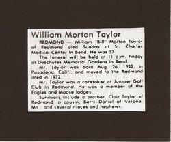 William Taylor Morton Taylor