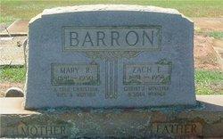 Zach E Barron