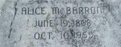 Alice M Barron