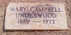 Mary <i>Campbell</i> Underwood