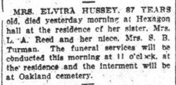 Elvira <i>Nolan</i> Hussey