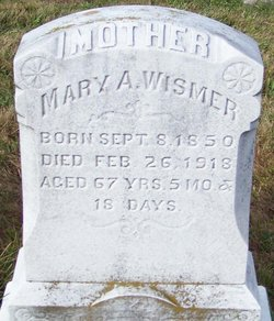 Mrs Mary Ann <i>Wireman</i> Wismer