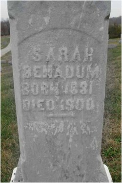 Sarah <i>Benadum</i> Benadum