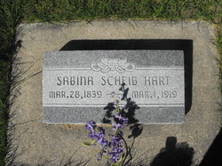 Sabina <i>Scheib</i> Hart