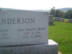 Sara Frances <i>Brown</i> Anderson