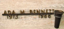 Ada M <i>Bosch</i> Bennett